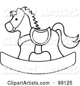 Outlined Children's Nursery Rocking Horse
