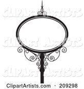 Oval Wrought Iron Storefront Sign - 2