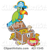 Pirate Parrot with Treasure