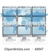 Pixel Atlas Spanned over Nine Computer Monitors