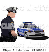 Police Officer by His Cop Car 3