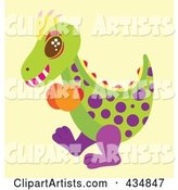 Polka Dot Dinosaur Wearing Boxing Gloves