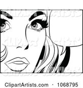 Pop Art Talking Woman in Black and White 3