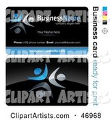 Pre-Made Blue Dancer Business Card Design
