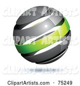 Pre-Made Business Logo of a Gray and Green Globe