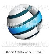 Pre-Made Business Logo of a White and Blue Ring Globe