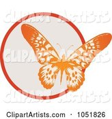 Red Butterfly and Circle Logo