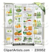 Refrigerator Packed Full of Organic Foods