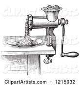 Retro Antique Meat Grinder or Chopper in Black and White