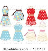 Retro Cupcake and Polka Dot Aprons