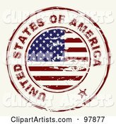 Round Distressed American Ink Stamp