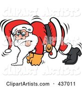 Santa Sweating and Doing Pushups
