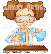 Science Girl Mixing Chemicals