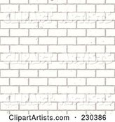 Seamless Background of a White Brick Wall