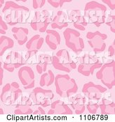 Seamless Pink Leopard Print Background Pattern 3