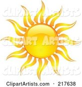 Shiny Orange Hot Summer Sun Design Element - 15