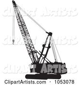 Silhouetted Construction Crane - 1