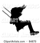 Silhouetted Girl on a Swing