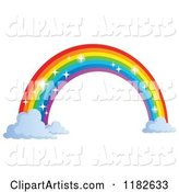 Sparkly Rainbow Arch and Clouds