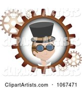 Steampunk Man and Gears