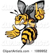 Stinging Bee Holding a Finger up