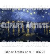 The Starry Night over the Rhone in Arles, Original by Vincent Van Gogh