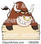 Tough Bull and Blank Sign