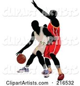 Two Basketball Players in a Game - 1
