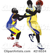 Two Basketball Players in a Game - 2