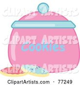 Two Frosted Sugar Cookies by a Jar
