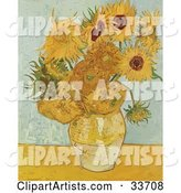 Vase Full of Sunflowers, Original by Vincent Van Gogh