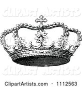 Vintage Black and White Coronet Crown 3