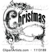 Vintage Christmas Sign with Ornate Elements