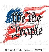 We the People Text over an American Flag