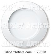 White Large Round Dinner Plate