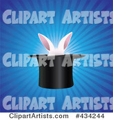 White Rabbit Ears in a Magic Hat