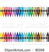 White Text Box with Upper and Lower Colorful Crayon Borders