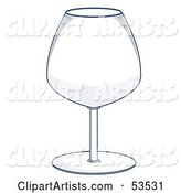 Wide, Transparent Wine Glass