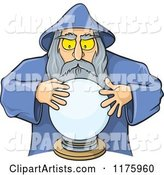 Wizard Looking into a Crystal Ball