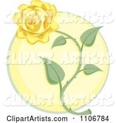 Yellow Rose over a Circle