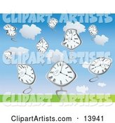 Vector Clock Clipart by Rasmussen Images