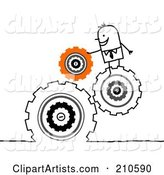 Vector Cogs Clipart by NL Shop