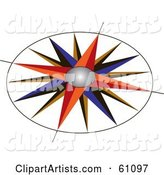Vector Compass Clipart by Pauloribau