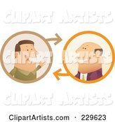 Vector Conversation Clipart by Qiun
