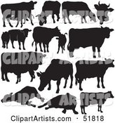 Vector Cow Clipart by Dero