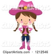 Vector Cowgirl Clipart by Designbella