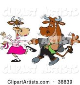 Vector Cows Clipart by Dennis Holmes Designs