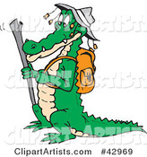Vector Crocodile Clipart by Dennis Holmes Designs