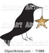 Vector Crow Clipart by Inkgraphics
