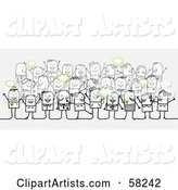 Vector Crowd Clipart by NL Shop